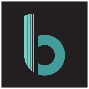 blend card logo framed