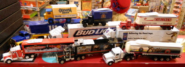 Die cast beer trucks